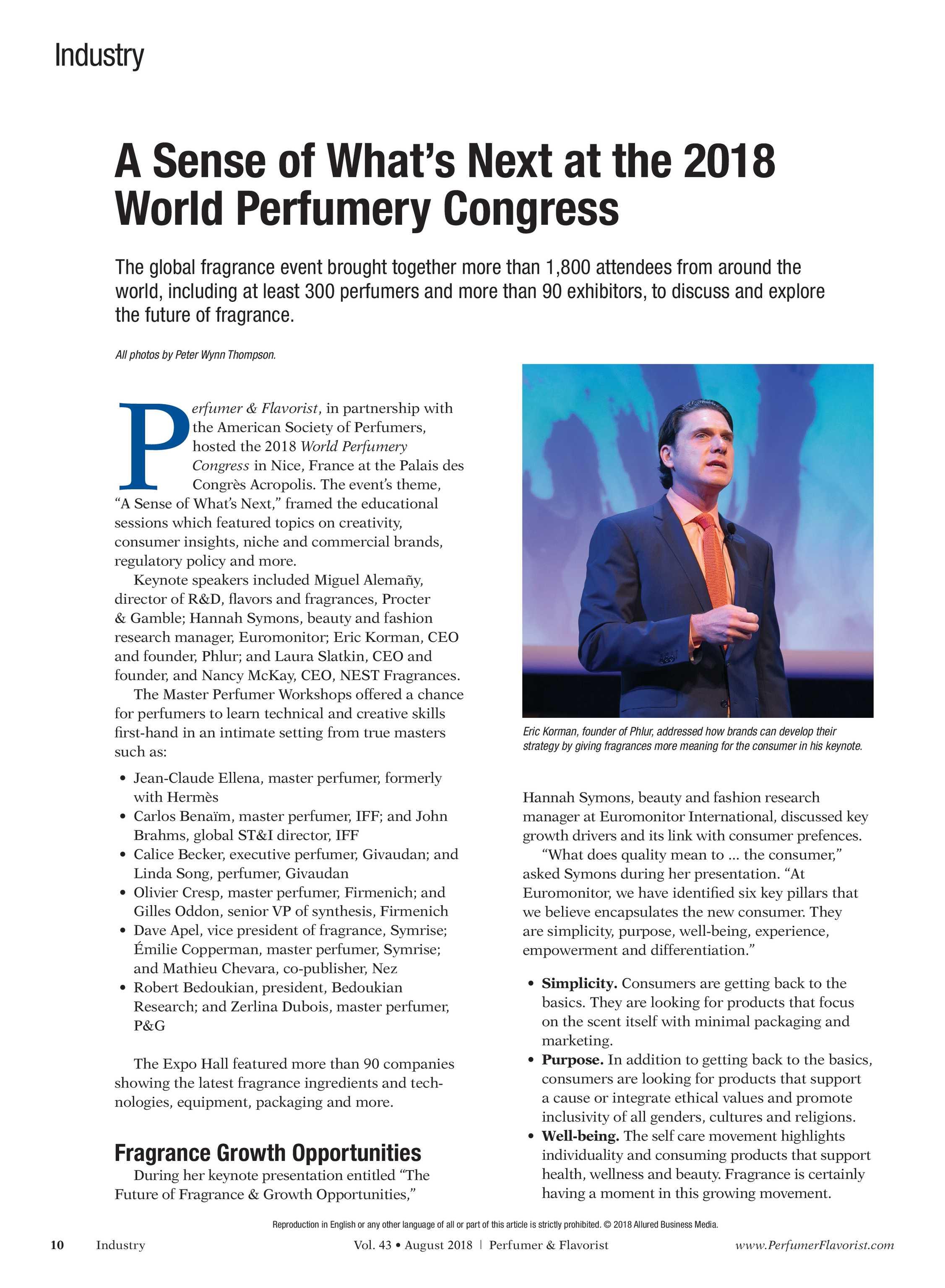 Perfumer & Flavorist - August 2018 - page 10