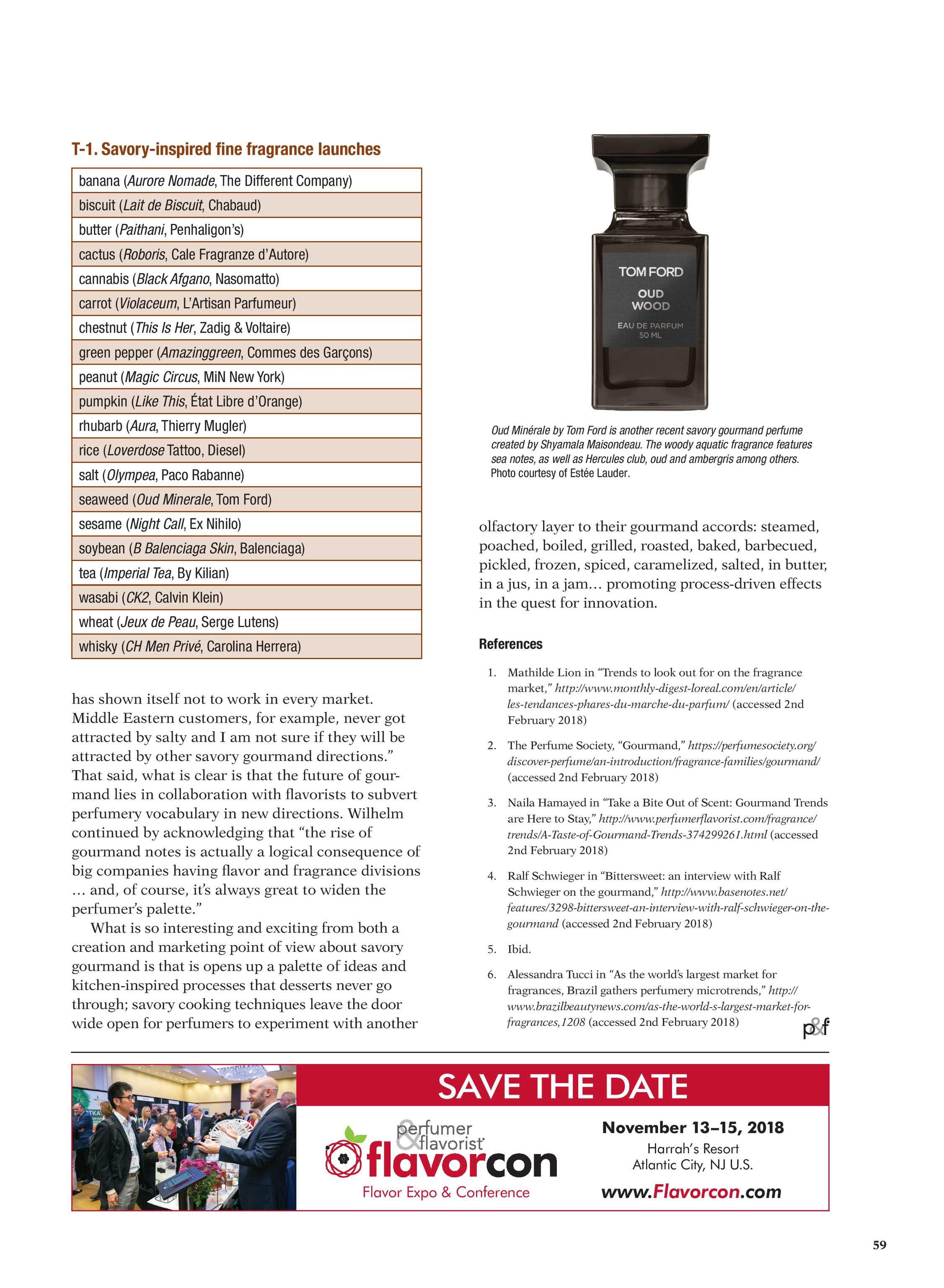 Perfumer & Flavorist - May 2018 - page 60